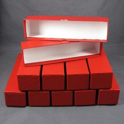 10 Red Storage Boxes for 2x2 Coin Holders and Flips (2x2x9) Single Row