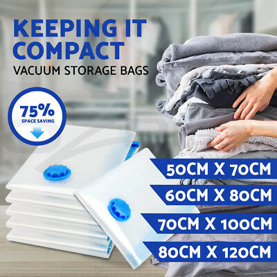 6 to 30 Vacuum Storage Bags Saver Seal Compressing Medium Large Jumbo Supersize