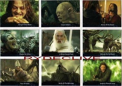 Lord of the Rings Return of the King Update Full 72 Card Base Set from Topps