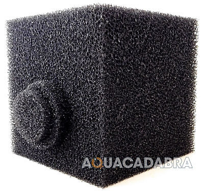 "Pond Fish Filter 8"" Cube Foam Off Centre Hole Pre-Filter Sponge Block 8 Inch"
