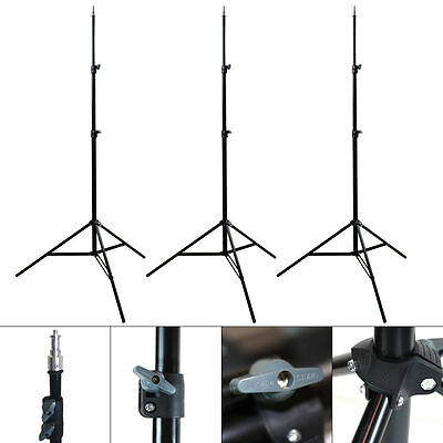 3 x 7ft Light Stand Photo Video Studio Lighting Photography Stands