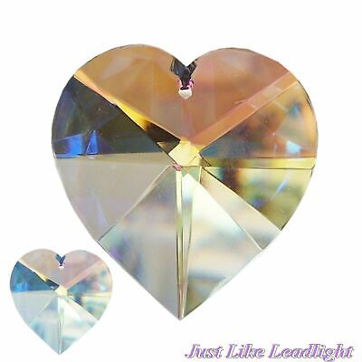 38mm AB CLEAR CRYSTAL HEART pendant for crystal suncatcher craft jewellery