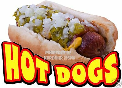 "Hot Dogs Decal 14"" HotDogs Concession Restaurant Cart Food Truck Vinyl Sticker"