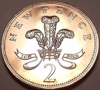 Cameo Proof Great Britain 1974 2 Pence~Welsh Plume~100,000 Minted~Free Shipping