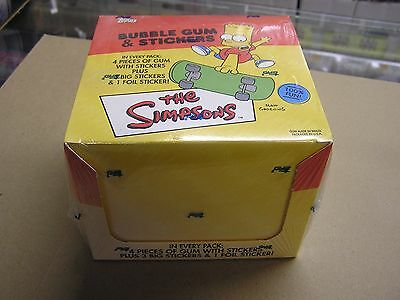 2002 TOPPS THE SIMPSONS BUBBLE GUM STICKERS CARD BOX SEALED 24 PACKS HTF SCARCE
