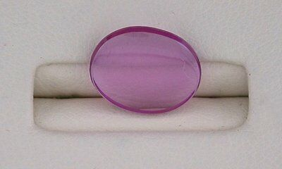 ONE 11x9 Flat Oval Synthetic Pink Sapphire Corundum Cab Cabochon 11mm x 9mm 6275