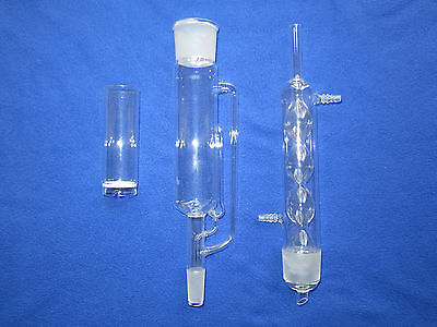 Soxhlet Extraction Apparatus set with thimble 50/42 24/40 500ml