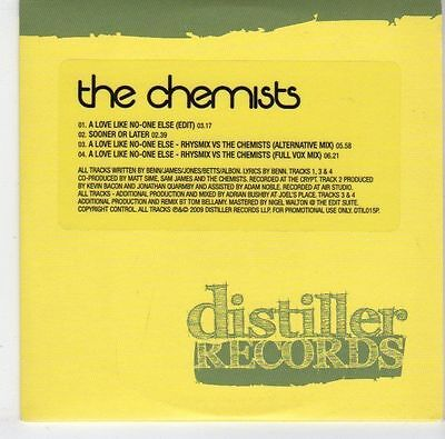 (EL515) The Chemists, A Love Like No-One Else - 2009 DJ CD