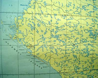 Canadian Government Topographic Map Kogaluk River Quebec Quadrant 1951 Vintage