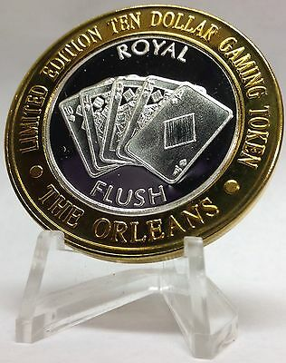 .999 Fine Silver Strike From The Orleans Casino Las Vegas Nevada Royal Flush