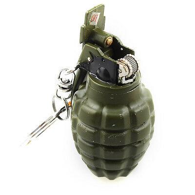 Mini Grenade Shaped Refillable Butane Gas Flame Cigarette Cigar Lighter Gift New