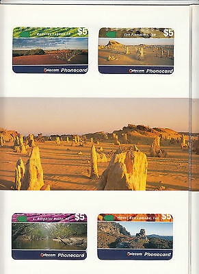 Phonecards 1994 Australian Landscapes magnetic set of 7 in limited edition pack