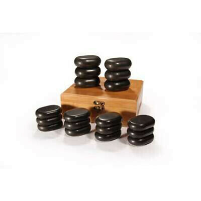 18 Pierres Chaudes hot stone cosmetique massage pierres - Promafit