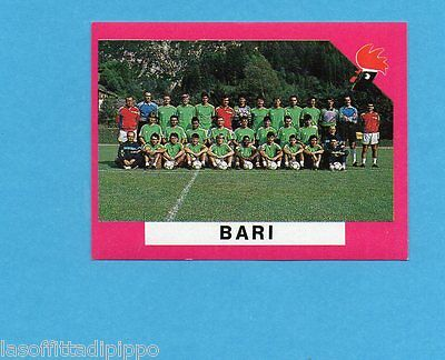 EURO FLASH-I CALCIATORI 1990/91-Figurina n.18- SQUADRA - BARI -NEW