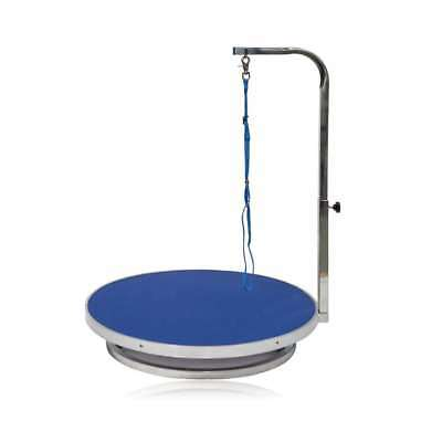 "Go Pet Club 22""Diameter Pet Dog Grooming Table with Arm (Blue) - GT-302"
