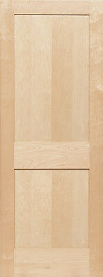 2 Panel Birch Flat Mission Shaker Stain Grade Solid Core Interior Wood Doors
