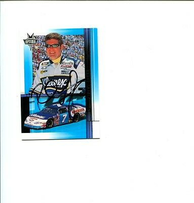 Randy LaJoie NASCAR Driver 2002 Press Pass Signed Autograph Photo Card