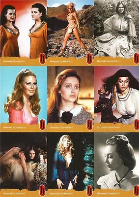 Hammer Horror Series 2 Full 9 Card Hammer Glamour Chase Set from Strictly Ink