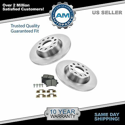 Nakamoto Rear Metallic Brake Pads & 2 Rotors Set for A3 VW Eos GTI Jetta Passat