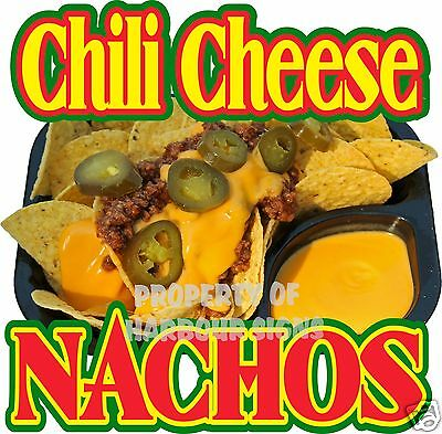 Nachos Chili Cheese Mexican Restaurant Concession Food Truck Menu Decal 14""