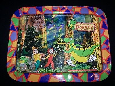 Adventures of Dudley the Dragon Tales Metal Tray 1995 dinner lunch serving