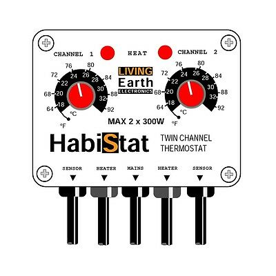 HABISTAT TWIN CHANNEL STAT Reptile Vivarium THERMOSTAT
