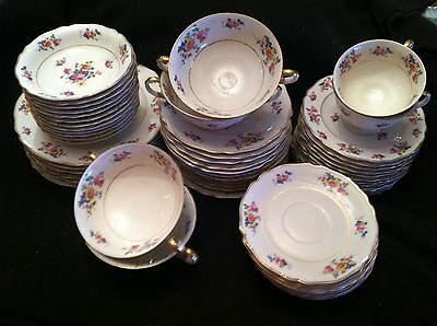K&A FRANCONIA/KRAUTHEIN SELB BAVARIA GERMANY LOT OF 57 PCS, PLATES, CUPS + MORE