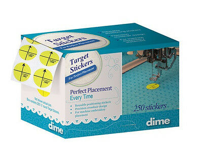 Target Stickers for Perfect Placement  by Designs in Machine Embroidery  250 pk