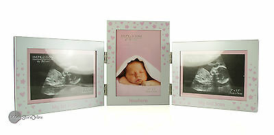 Triple Baby Girl Scan Photo Frame Gift CG523G
