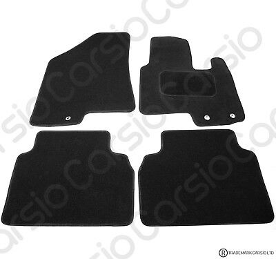 Hyundai IX35 Tailored Black Car Floor Mats Carpets 4pc Set With Clips