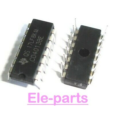 20 Pcs Cd4013Be Dip-14 Cd4013 Cmos Dual D-Type Flip-Flop