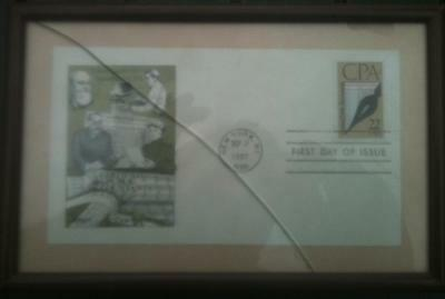 Framed First Day of Issue Cover Certified Public Accountants CPA NY Sep 21 1987