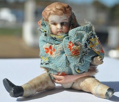 19th Century Imperial Russia Russian BISQUE PORCELAIN Small Sized Doll Toy