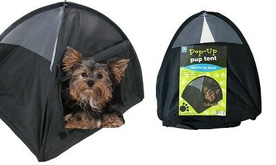 "Pop Up Puppy Tent For Traveling Or Camping 14"" Small Dog Puppy BRAND NEW"