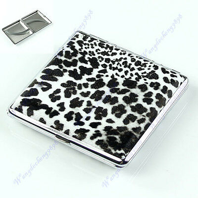 BW Box New Pocket Leather Cigarette(20 pcs) Tobacco Case Holder Leopard Pattern