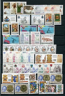 VATICAN CITY 1979-80 MNH COMPLETE 50 Stamps