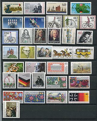 GERMANY 1985 MNH COMMEMORATIVES COMPLETE YEAR 34 Stamps