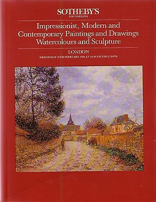SOTHEBY'S Catalogue Impressionist Modern & Contemporary Art 26 February 1986