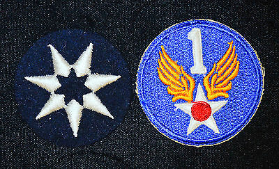 7th Service Command (Felt) 1st Air Corps Patch Original WWII WW2 Military Army.