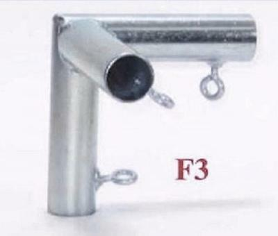 """3 way FLAT CORNER FITTING (F3) 1"""" Pipe ~ Canopy Parts"""