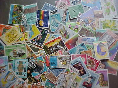 100 Different Ghana Stamp Collection - Lot