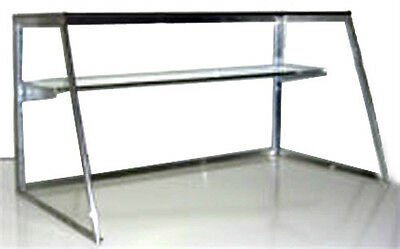 Carib 6 FT Glass Sneeze Guard with Shelf for Commercial Steam Table or Salad Bar