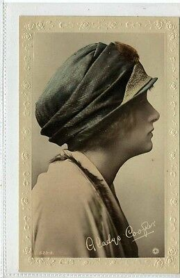 (Gn593-395) Real Photo of GLADYS COOPER c1920 Unused EX Rotary S23-4