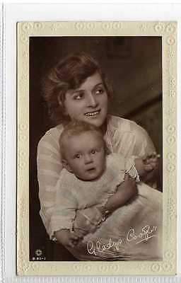 (Lz231-395) Real Photo of GLADYS COOPER & Baby c1920 Unused VG-EX Rotary B85-1