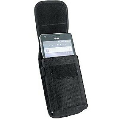 New Rugged Canvas Vertical Carrying Case Pouch Holster Belt Clip for Cell Phones