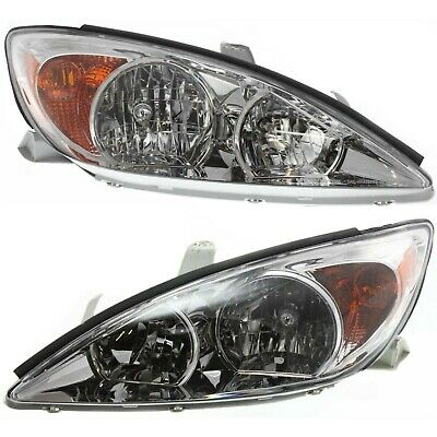 Headlight Set For 2002-2004 Toyota Camry Driver and Passenger Side w/ bulb