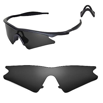 New Walleva Black Replacement Lenses For Oakley M Frame Sweep Sunglasses
