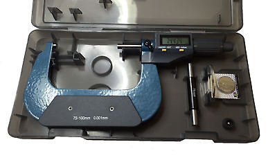 "Rdgtools 25 - 50Mm 1-2"" Digital Micrometer Metric Imperial Measuring Tools"