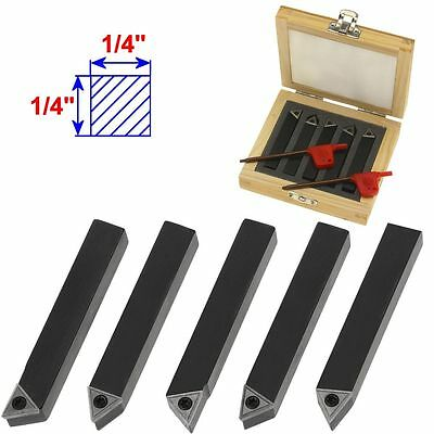 "5 1/4"" Mini Lathe Indexable Carbide Insert Tool Bit Set"