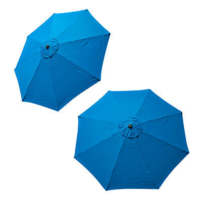 Patio Market Outdoor 9 FT 8 Ribs Umbrella Cover Canopy Blue Replacement Top